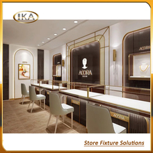 Custom Modern Fixture Fittings Equipment Display Cabinet And Showcase For Jewelry Shop