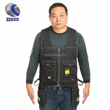 Hang pocket multi-pocket working vest with three stitches