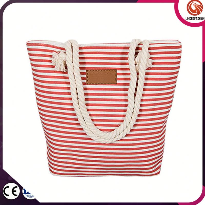 High quality new coming popular shopping tote bags beach canvas bags for women