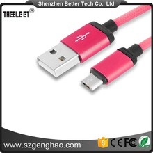 Top quality Braided Micro Usb Data Cable For Samsung