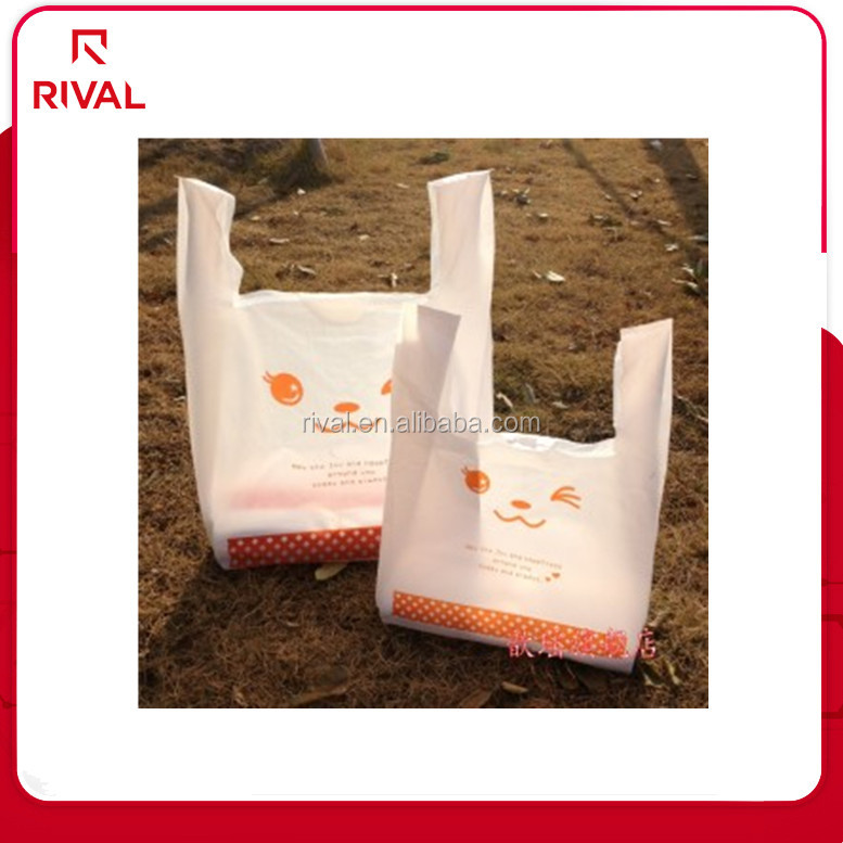 Flexo Printing Surface Handling and Plastic Material Affordable plastic T-shirt bag