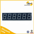 Super bright Color 630nm common Anode 0.36 6 digit 7 segment led display Red