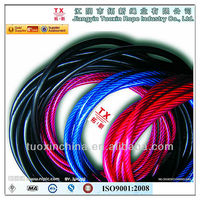 1*7 PVC plastic coated galvanized steel strand cable