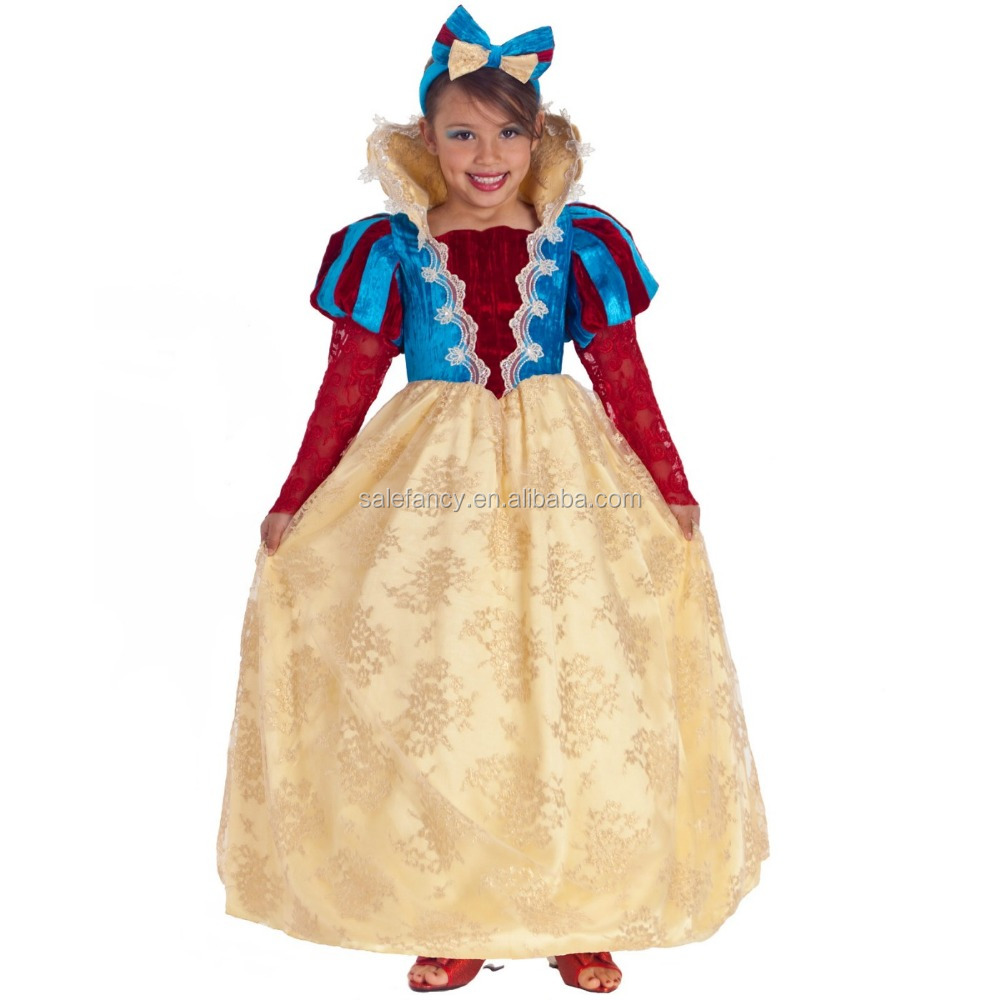 Royal Snow White Girl kids wedding dress pirate mexican Costumes QBC-8232