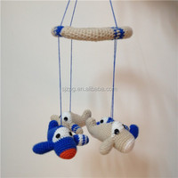 blue airplane handmade baby mobile toy