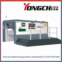 YC1320/1520/1650 Semi Automatic Corrugated Board Die Cutting Machine with Stripping