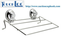 Towel rack mounting hardware suction cup rack