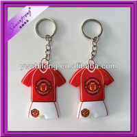 Wholesale cheapest glitter world cup T-shirt keychain