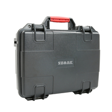 Hard plastic equipment case with foam