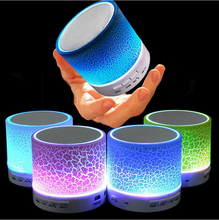 2018 LED Portable Mini Bluetooth Speakers Wireless Hands Free Speaker With TF USB FM Mic Blutooth Music For Mobile Phone