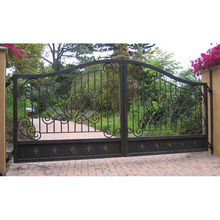Italian style simple cheap beautiful antique decorative wrought iron driveway gates