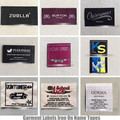 ironing adhering fabric garment labels iron on name tapes
