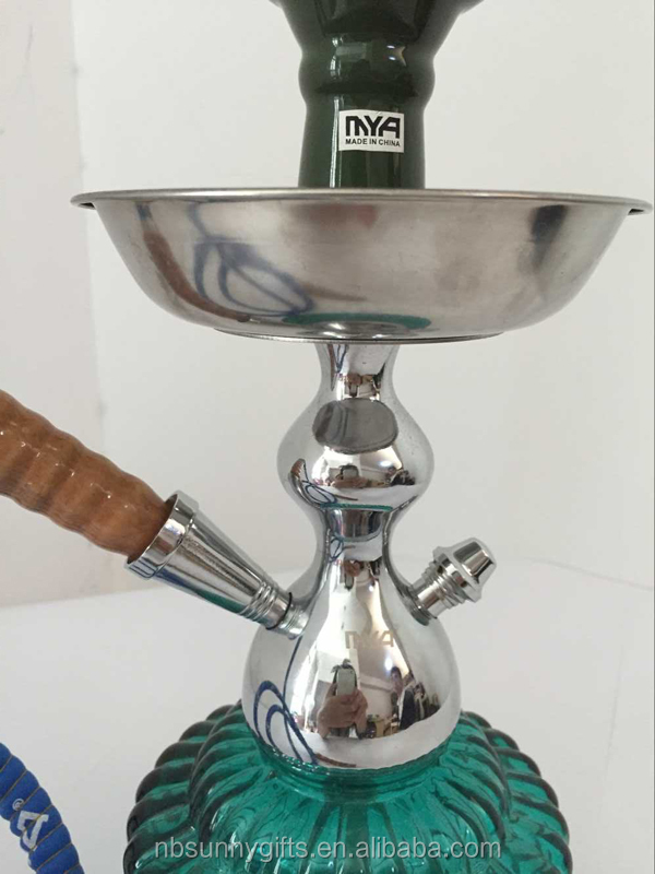 Blue Hookah shisha nargila bar narguile nargile glass vase pipe new