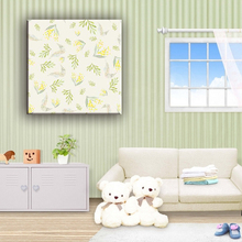 Customized fresh and elegant small flower canvas art painting for living room