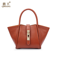 2015 new product welcomed 100% genuine leather women handbag 2pcs set whosales Guangzhou Made in China supplier
