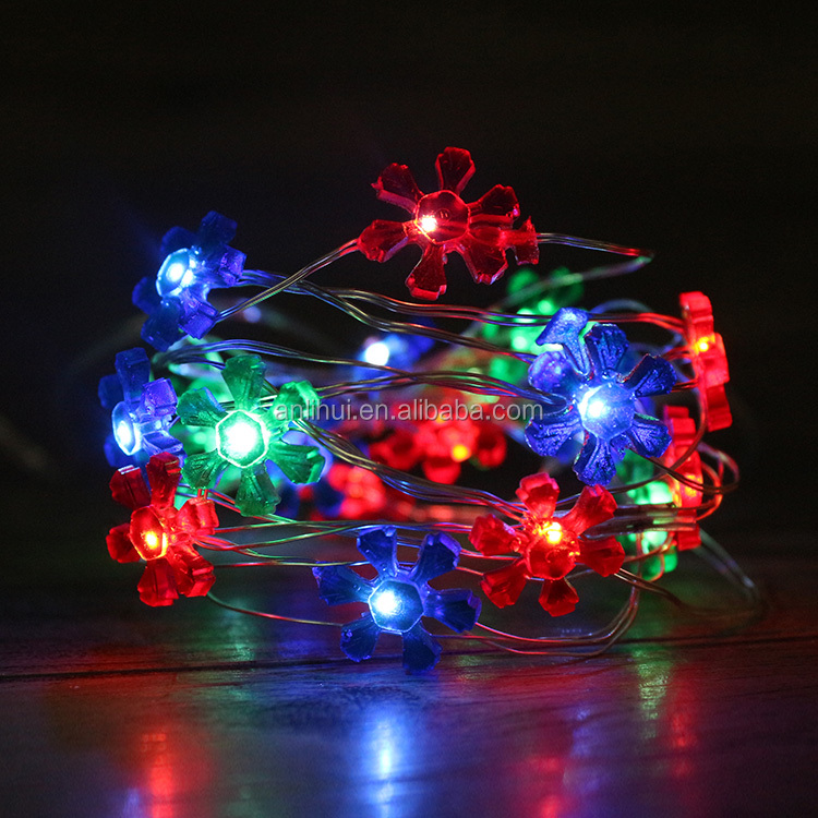 LED Copper String Light for Wedding Party Power by 3AA Batteries Pack