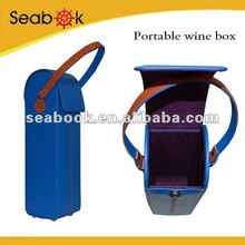 pu single bottle portable wine box