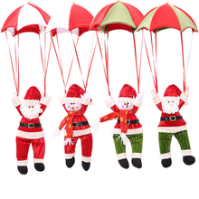 Yiwu 2017 Felt Christmas Decoration Parachute Santa Christmas Decoration Hanging Santa