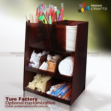 Office break room desk table Organizer for coffee offerings Condiment Organizer Paper Cup Holder thermos coffee dispenser