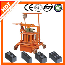Small egg laying QMJ2-45 Mobile manual block making machine
