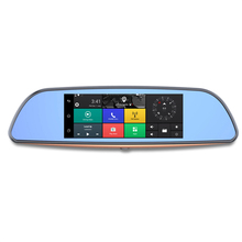 Special offer 7 inch Android rearview mirror car camera dvr with GPS