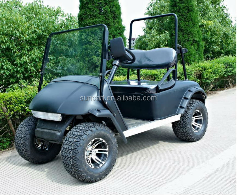 Electric 2 Seater Golf Carts,Black 2 Passenger Golf Buggy for sale