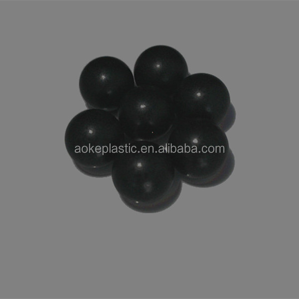 35mm PP black clear solid plastic ball
