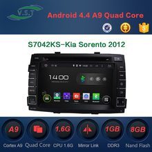 Autostereo Radio Android Car DVD Player for Sorento 2012 with Bluetooth iPod Map Phonebook USB SD PIP Multi-languages