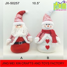 Wholesale red white fabric christmas santa claus snowman gift shantou factory