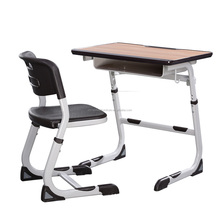 Assemble Steel frame School desk and chair set for Students, assemble study table and chair