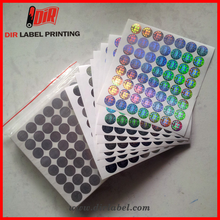 hot reflective anti-counterfeiting security 3d custom blank id card authenticity hologram sticker
