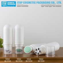 younique packaging design china 150ml plastic bottle empty makeup containers cream bottle massage tube plastic applicator tip