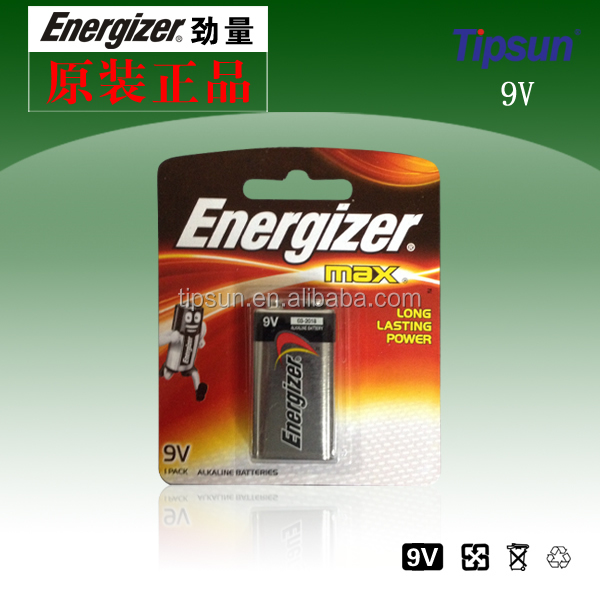 Blister Card Package Energizer 6LR61 9V Alkaline Battery