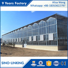 SINOLINK supply adjusting the temperature diy greenhouse building construction tubular glass greenhouse