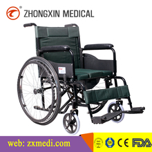 Chairs for the disabled Steel folding commode wheelchair