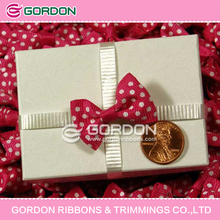 Grosgrain ribbon with dot printing Decorative Ribbon Bow