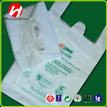 China Manufacture biodegradable printed T-shirt bags