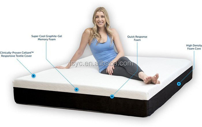 Diglant Sleep 10 In Cool Gel Infused Air Ventilation Memory Foam Mattress Queen