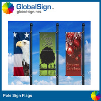 Roadside Advertising Pole Sign Hanging Banner
