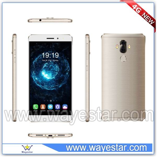 Customized 4G FDD LTE B2/B4/B5/B7/B17 Android Phone 6 inch Double Back Cameras 2G/16G Fingerprint