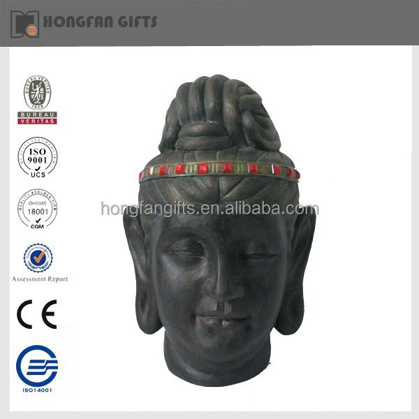 hot sell garden ornament resin buddha head