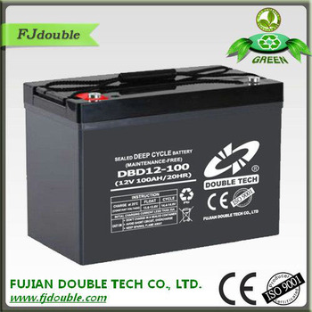 long depe cycle life lead acid free maintenance 12v 100ah battery for solar