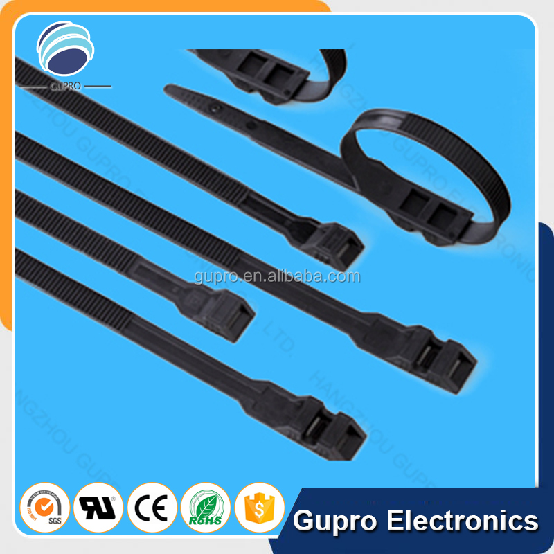 UL list wrapping cable tie double loop cable tie tie down strap