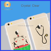 Crystal Transparent clear TPU phone case Cover For iPhone 6s Plus, For iPhone brand name Phone Case For iPhone6s