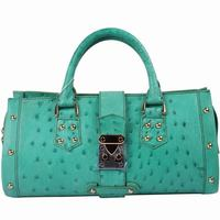 Luxurious ladies exotic leather handbag in real ostrich skin, top grade exotic bag manufacturer