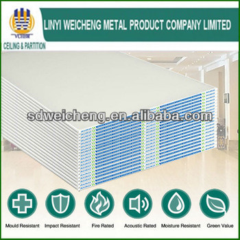 Environmental decorative plasterboard 2x4 Gypsum Drywall Plasterboard With Factory Price