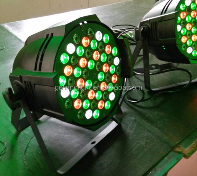 2014 Hot selling RGBA 3W54 Leds Outdoor Par Can,led par 64 54x3w