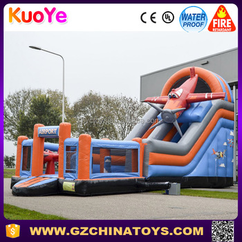 high quality plane and airport type inflatable playground rentals
