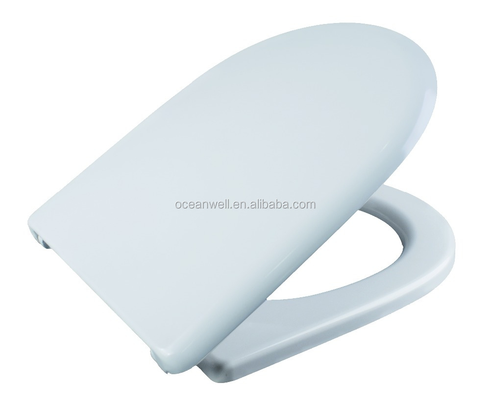D shape toilet seat cover with soft close fashion your bathroom
