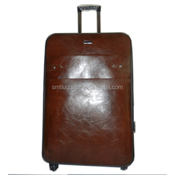 Thick Pu Leather 4 Wheels Trolley Luggage